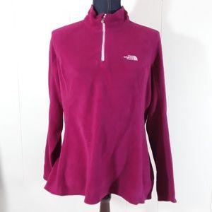 Magenta Northface 1/4 zipup large fleece jacket